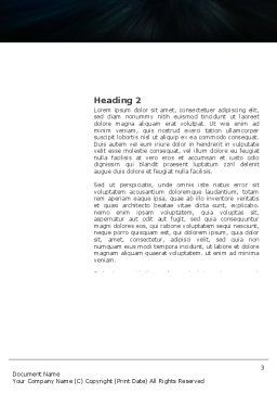 Diving Word Template, Second Inner Page, 03439, Sports — PoweredTemplate.com