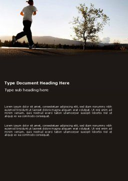 Morning Jogging Word Template, Cover Page, 03440, Sports — PoweredTemplate.com
