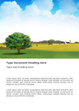 Country Paysage Word Template Cover Page