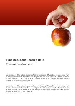 Apple Word Template, Cover Page, 03445, Business Concepts — PoweredTemplate.com