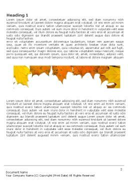 Yellow Leaves Frame Word Template, First Inner Page, 03446, Nature & Environment — PoweredTemplate.com