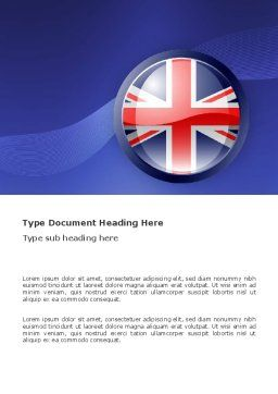 United Kingdom Word Template, Cover Page, 03448, Flags/International — PoweredTemplate.com
