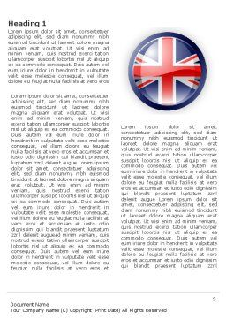 United Kingdom Word Template, First Inner Page, 03448, Flags/International — PoweredTemplate.com