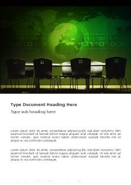 Conference Hall Word Template, Cover Page, 03451, Global — PoweredTemplate.com