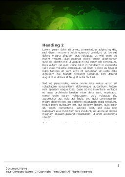 Conference Hall Word Template, Second Inner Page, 03451, Global — PoweredTemplate.com