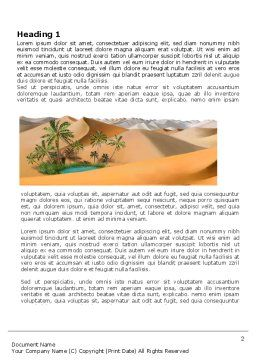 Oasis Word Template, First Inner Page, 03452, Nature & Environment — PoweredTemplate.com