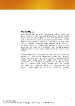 Oasis Word Template, Second Inner Page, 03452, Nature & Environment — PoweredTemplate.com