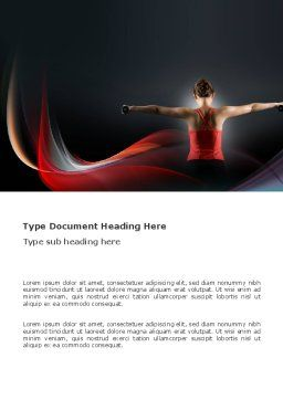 Fit Body Word Template, Cover Page, 03455, Sports — PoweredTemplate.com