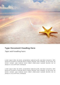 Starfish Word Template, Cover Page, 03456, Nature & Environment — PoweredTemplate.com