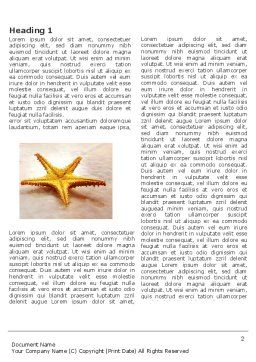 Starfish Word Template, First Inner Page, 03456, Nature & Environment — PoweredTemplate.com