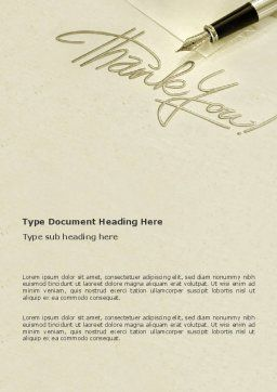 Thank You Word Template, Cover Page, 03457, Business — PoweredTemplate.com