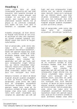 Thank You Word Template, First Inner Page, 03457, Business — PoweredTemplate.com