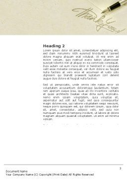 Thank You Word Template, Second Inner Page, 03457, Business — PoweredTemplate.com