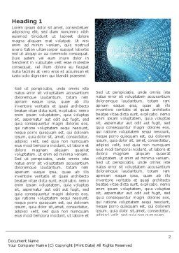 Binary Code Tube Word Template, First Inner Page, 03458, Technology, Science & Computers — PoweredTemplate.com