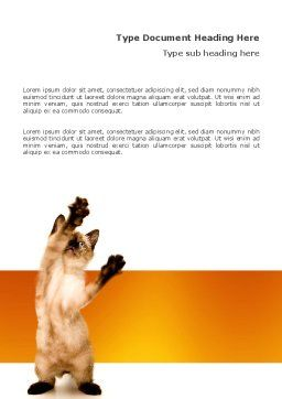 Kitten Word Template, Cover Page, 03459, Agriculture and Animals — PoweredTemplate.com