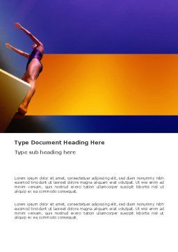 Diving Sport Word Template, Cover Page, 03460, Sports — PoweredTemplate.com
