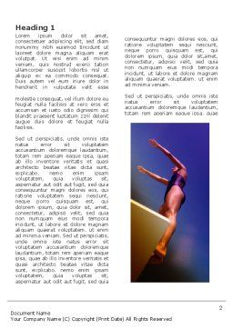 Diving Sport Word Template, First Inner Page, 03460, Sports — PoweredTemplate.com