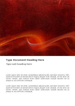 Red Texture Word Template, Cover Page, 03461, Abstract/Textures — PoweredTemplate.com