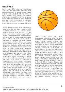 Basketball Field Word Template, First Inner Page, 03463, Sports — PoweredTemplate.com