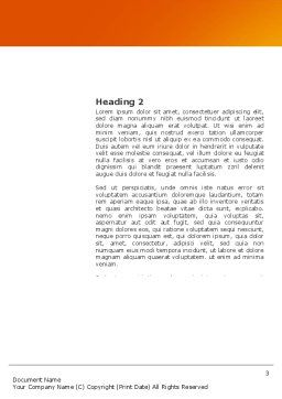 Basketball Field Word Template, Second Inner Page, 03463, Sports — PoweredTemplate.com