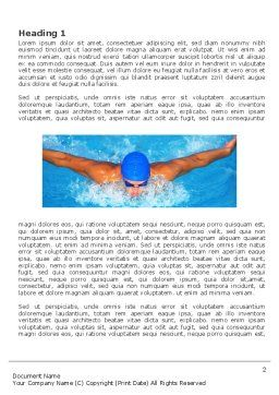 Swimming Stroke Word Template, First Inner Page, 03464, Sports — PoweredTemplate.com