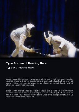 Free Fencing Duel Word Template, Cover Page, 03466, Sports — PoweredTemplate.com