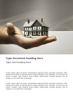 Habitation Word Template, Cover Page, 03467, Construction — PoweredTemplate.com