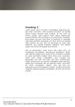 Habitation Word Template, Second Inner Page, 03467, Construction — PoweredTemplate.com