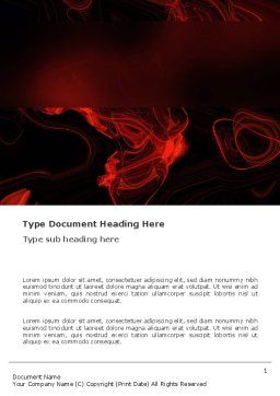 Red Curls Word Template, Cover Page, 03469, Abstract/Textures — PoweredTemplate.com