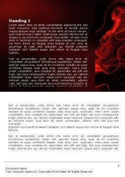 Red Curls Word Template, First Inner Page, 03469, Abstract/Textures — PoweredTemplate.com