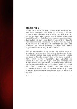 Red Curls Word Template, Second Inner Page, 03469, Abstract/Textures — PoweredTemplate.com