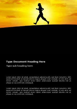 Run Word Template, Cover Page, 03470, Sports — PoweredTemplate.com