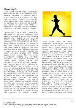 Run Word Template, First Inner Page, 03470, Sports — PoweredTemplate.com