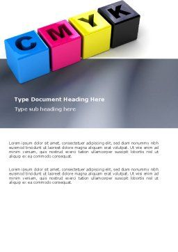 CMYK Word Template Cover Page