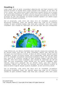 Friendship And Unity Word Template, First Inner Page, 03475, Global — PoweredTemplate.com