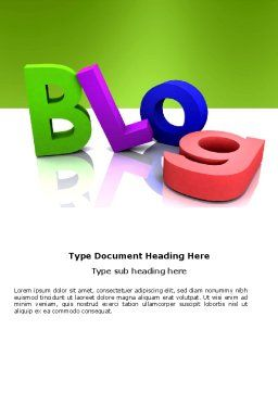 Blog Word Template, Cover Page, 03477, Careers/Industry — PoweredTemplate.com
