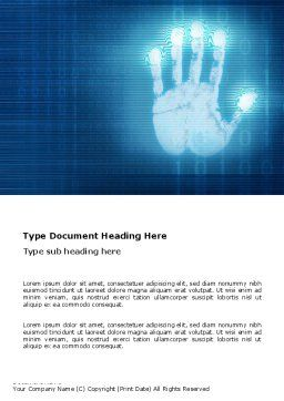 Identity Word Template, Cover Page, 03478, Technology, Science & Computers — PoweredTemplate.com