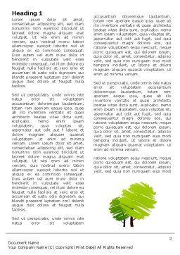 Greenery Word Template, First Inner Page, 03479, Nature & Environment — PoweredTemplate.com