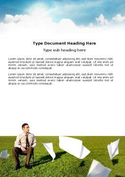 Paper Work Word Template, Cover Page, 03482, Business Concepts — PoweredTemplate.com