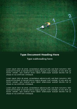 Field Marking Word Template, Cover Page, 03494, Sports — PoweredTemplate.com