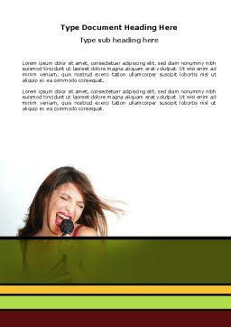 Singing Word Template, Cover Page, 03495, Careers/Industry — PoweredTemplate.com