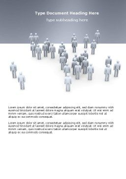 Crowd of People Word Template, Cover Page, 03496, Business Concepts — PoweredTemplate.com