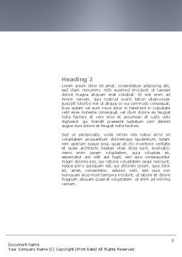 Crowd of People Word Template, Second Inner Page, 03496, Business Concepts — PoweredTemplate.com