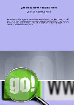Search Engine Word Template, Cover Page, 03497, Telecommunication — PoweredTemplate.com