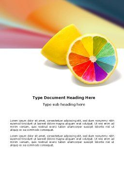 Color Diversity Word Template, Cover Page, 03498, Business Concepts — PoweredTemplate.com