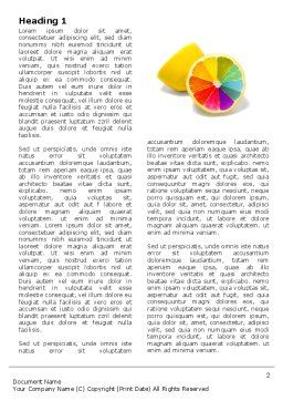 Color Diversity Word Template, First Inner Page, 03498, Business Concepts — PoweredTemplate.com