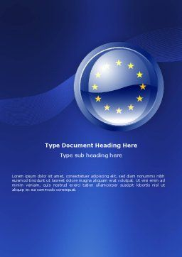 European Union Sign Word Template Cover Page
