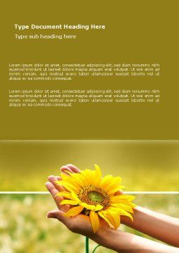 Summer Flower Word Template Cover Page