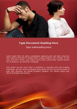 Quarrel Word Template, Cover Page, 03502, People — PoweredTemplate.com