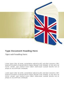 Learning English Word Template, Cover Page, 03505, Education & Training — PoweredTemplate.com